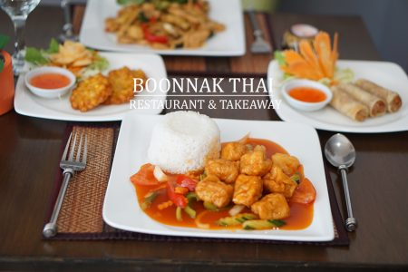 Boonnak Thai Restaurant menu